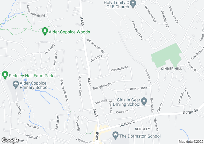Map for Highfield Road,