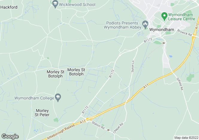 Map for Morley Lane, Wymondham