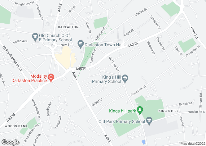 Map for Birmingham Street, Kings Hill, Darlaston