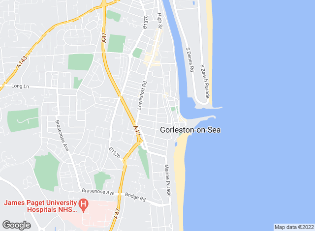 Map for Darby & Liffen, Gorleston On Sea