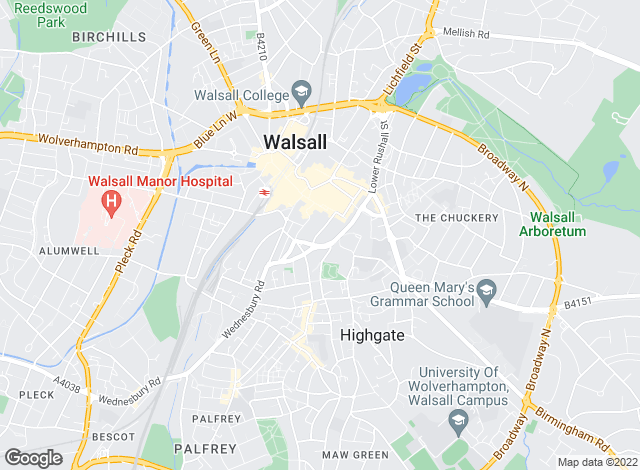 Map for Redstones, Walsall