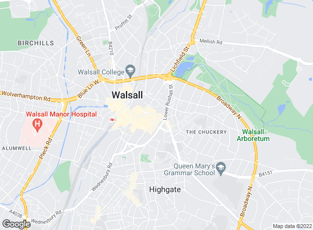 Map for Connells Lettings, Walsall - Lettings