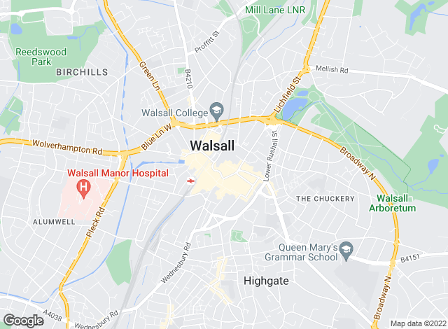 Map for Edwards Moore, Walsall