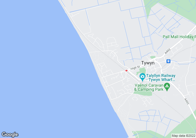 Map for Plas Edwards, Tywyn