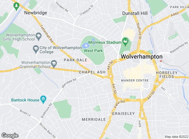 Map for Concentric Lettings, Wolverhampton