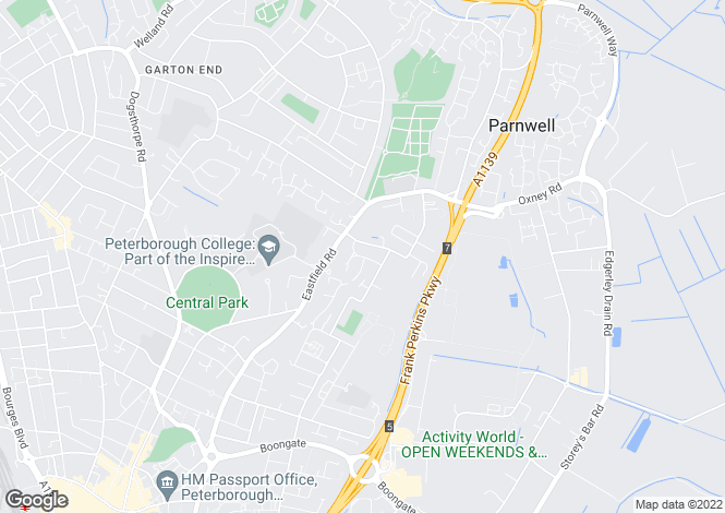Map for Briar Way, Peterborough, Cambs