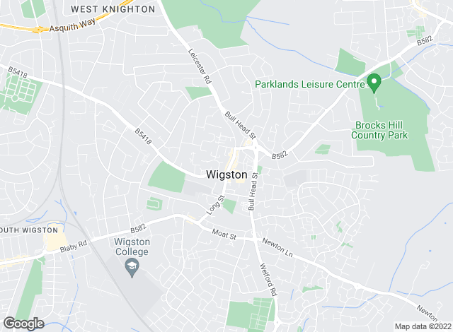 Map for Spencers, Wigston