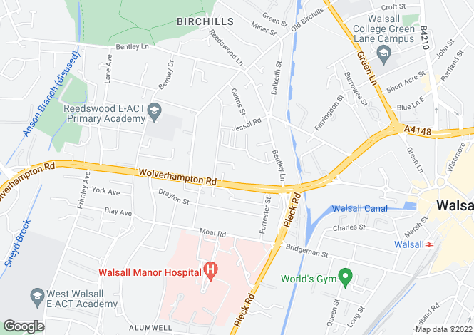 Map for Avonmore Court, Walsall, West Midlands