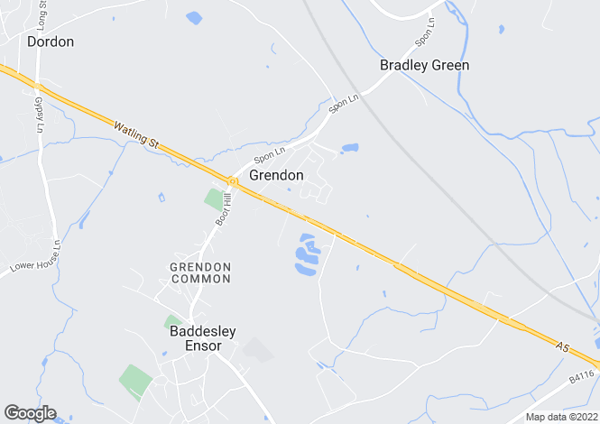 Map for Watling Street, Grendon, Atherstone, Warwickshire