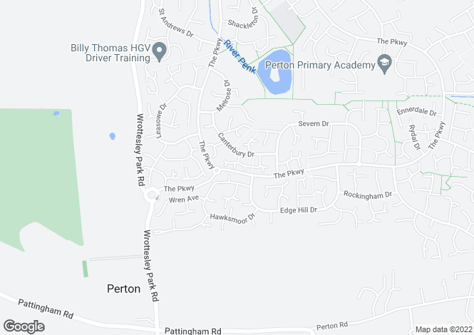 Map for Bader Road, Perton, Wolverhampton, WV6