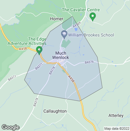 Map of property in Much Wenlock