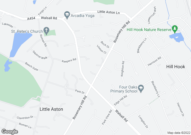 Map for HORNTON CLOSE, OFF ROSEMARY HILL ROAD, LITTLE ASTON, SUTTON COLDFIELD