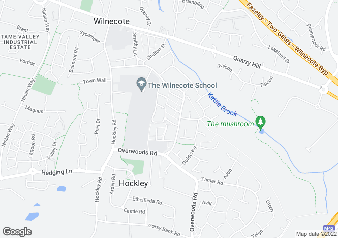 Map for Callis Walk, Wilnecote, Tamworth, B77