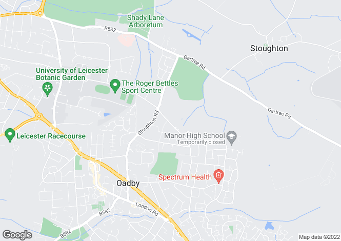 Map for Manor Road Extension, Oadby, Leicestershire