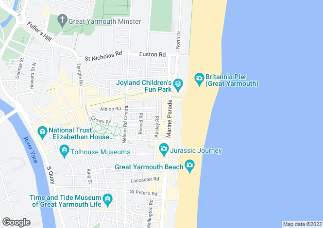 Map for The Empire, Marine Parade, Great Yarmouth
