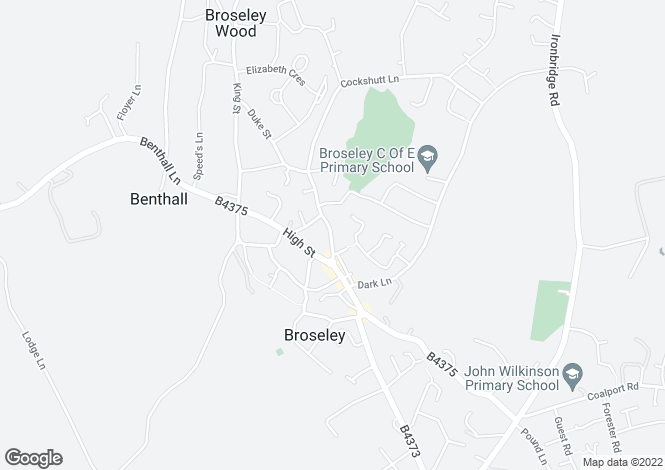 Map for Barber Street, Broseley