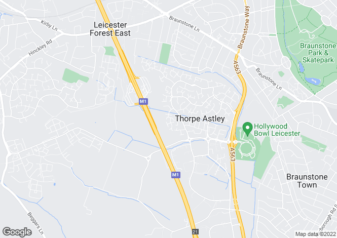 Map for Tuffleys Way, Leicester
