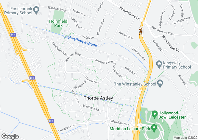 Map for Smart Close, Thorpe Astley, Braunstone, LE3 3RS
