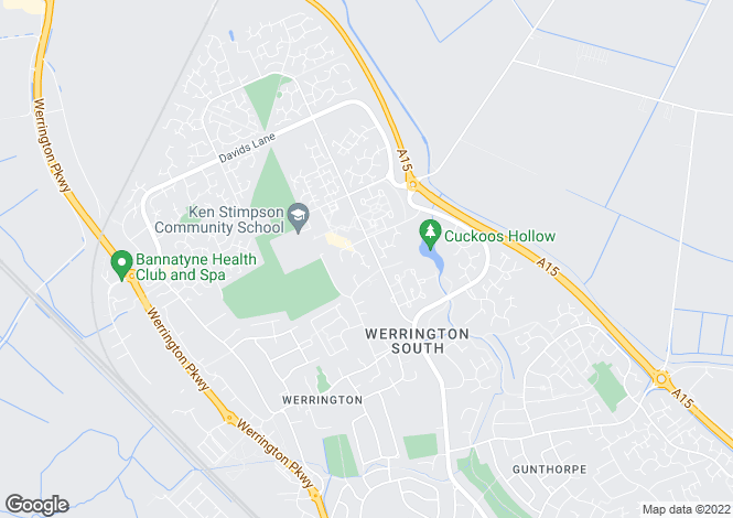 Map for Gatenby, Werrington, Peterborough