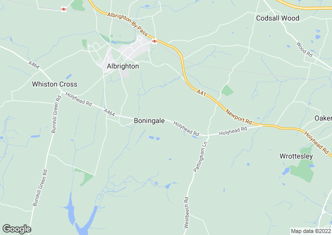 Map for 4 Woodhouse Lane, Boningale, Albrighton, Wolverhampton, Shropshire