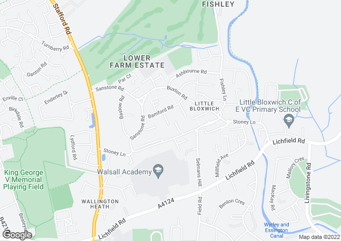 Map for Alvaston Close,Bloxwich,Walsall