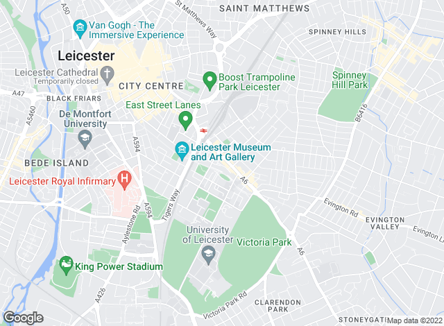 Map for IPS Estate Agents Ltd, Leicester