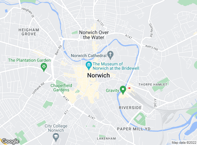 Map for Fine & Country, Norwich