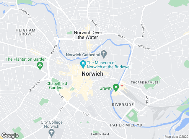 Map for Strutt & Parker, Norwich