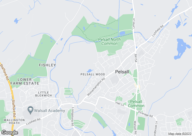 Map for Wood Common Grange, Pelsall, Walsall, WS3