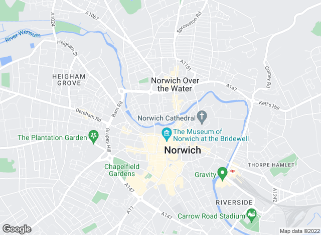 Map for Brown & Co, Norwich