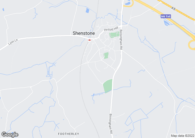 Map for Chestnut Drive, Shenstone