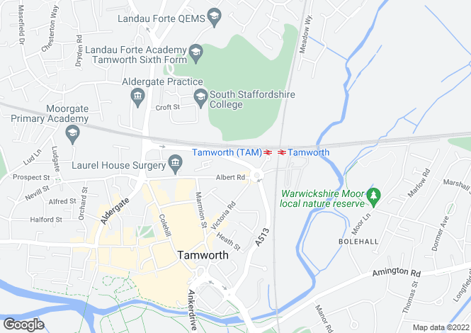 Map for Consort Place, Albert Road, Tamworth, Staffordshire, B79