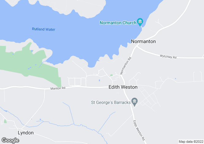 Map for Weston Road, Edith Weston, Rutland, LE15