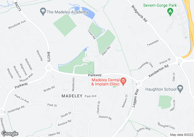 Map for Court Street, Madeley, Telford