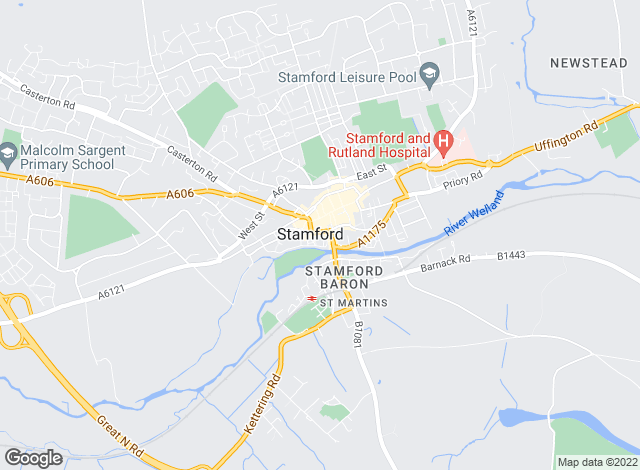 Map for Sharman Quinney, Stamford