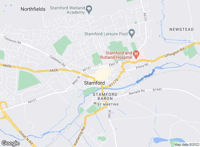 Map for Rosedale Property Agents, Stamford