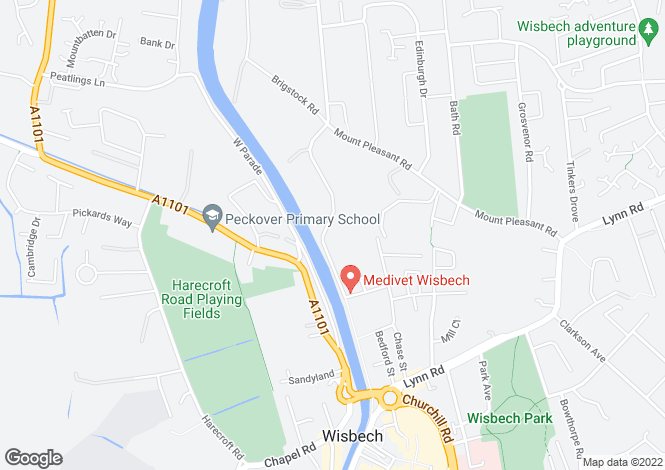 Map for Nene Parade, Wisbech