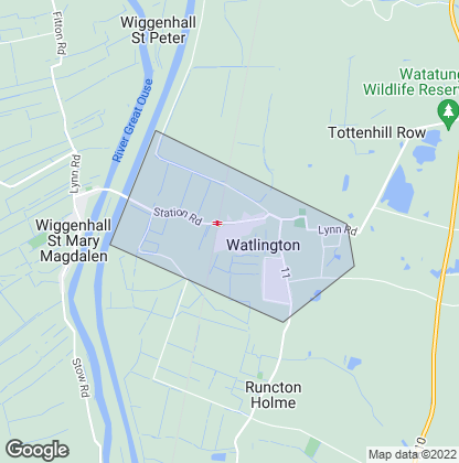 Map of property in Watlington