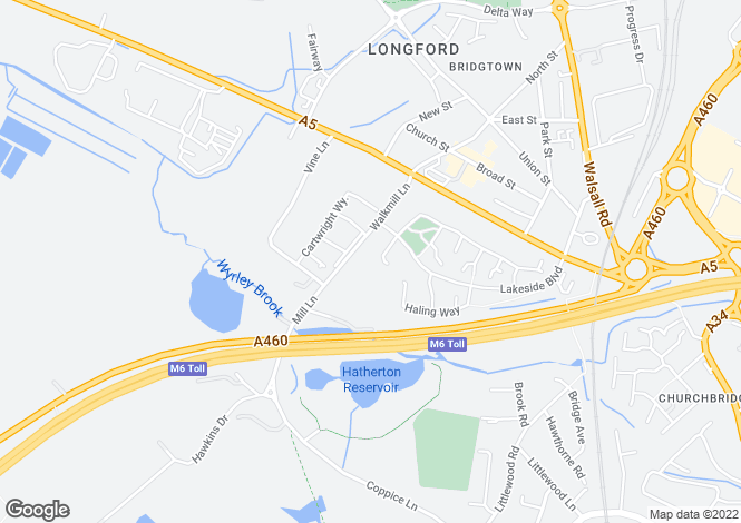 Map for Stafford at Lakeside, Walkmill Lane,