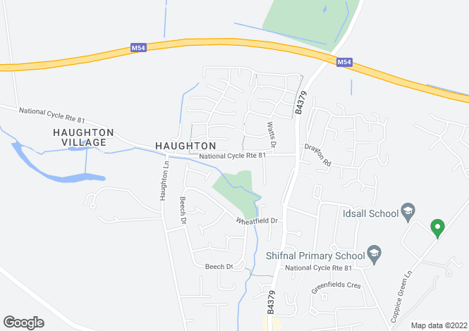 Map for Stevanna, Haughton Road Shifnal