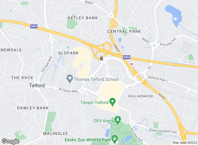 Map for Savills, Telford