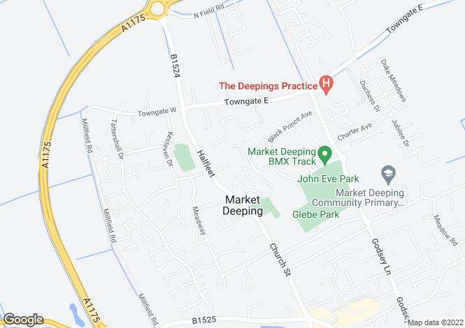Map for Forge Court, Market Deeping, Lincolnshire