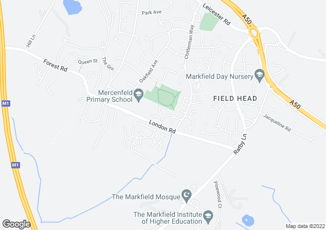 Map for Beech Close, Markfield