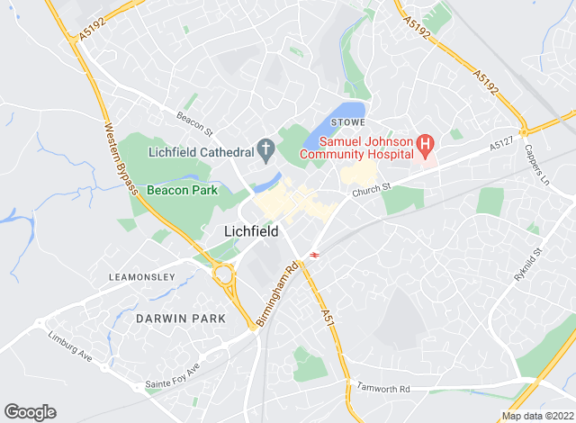 Map for John German, Lichfield