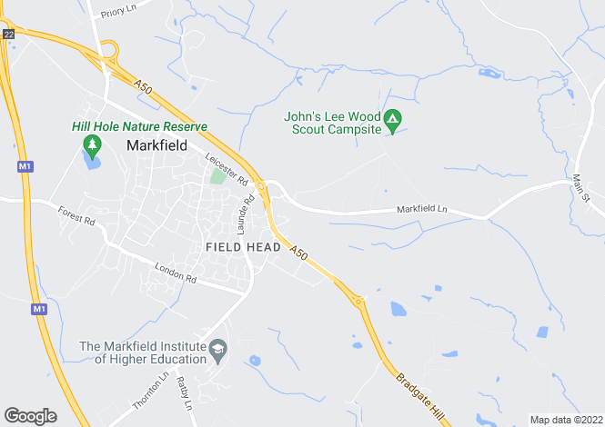 Map for Markfield Lane, Markfield, Leicestershire