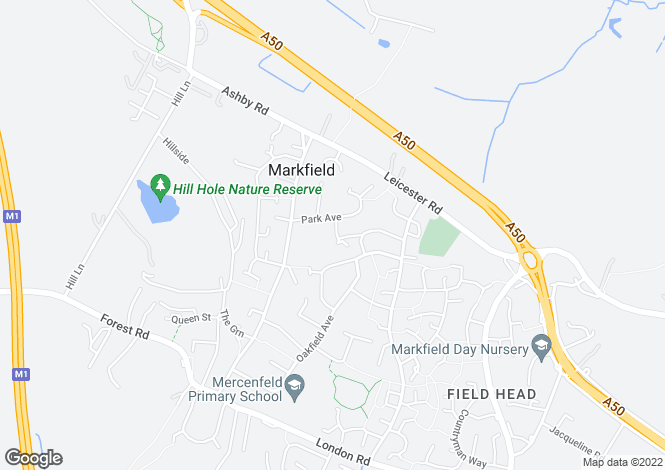Map for Lillingstone Close, Markfield, LE67 9WS