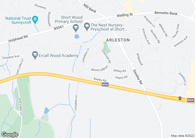 Map for Elmwood Road, Telford