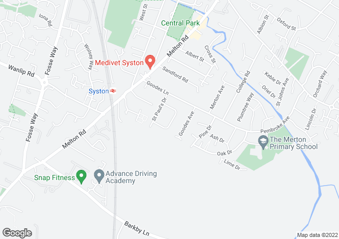 Map for Coplow Crescent, Syston, Leicestershire, LE7 2JE