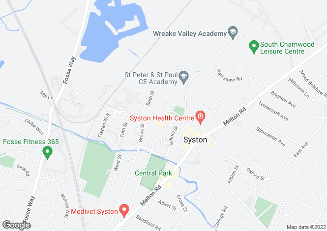 Map for The Green, Syston, Leicester