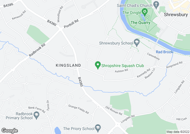 Map for Kennedy Road, Shrewsbury, SY3